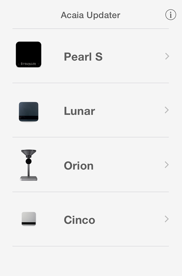 acaia coffee scale app log