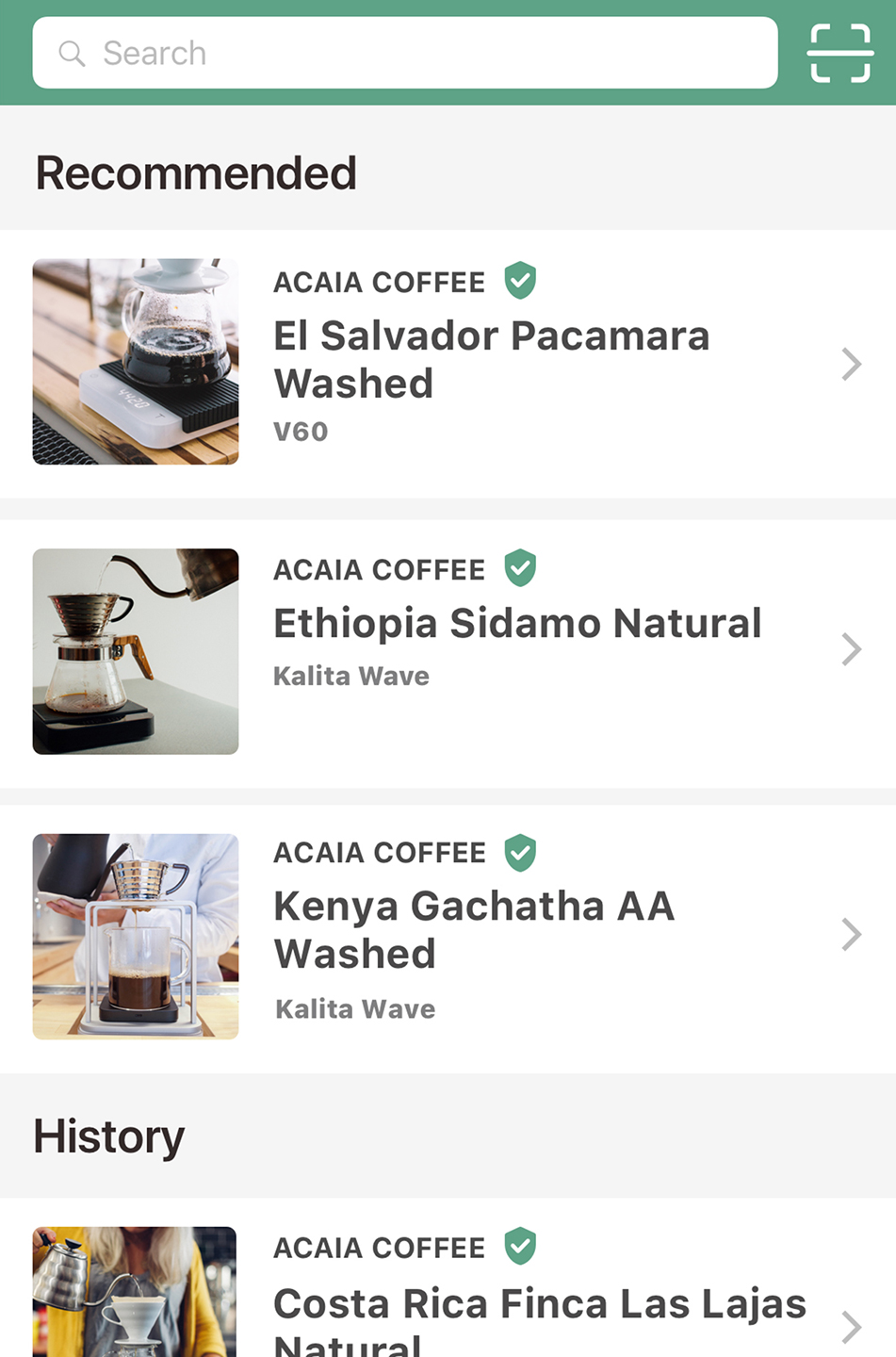 acaia coffee scale brewmaster app brewing